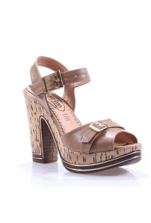 Perim 709 Günlük Cilt Topuklu 12 Cm Kadın Sandalet