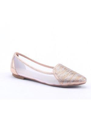 R.S.L Y-16150 Simli Taşlı Abiye Babet Ayakkabı