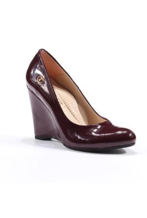 Topuz Rugan Dolgu Topuk Kadın Ayakkabı