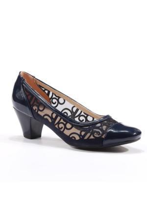 Topuz Rugan Önü Kapalı Topuklu Ayakkabı