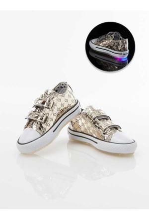 Stilo 2600 Günlük Keten Cırtlı Convers Işıklı Kız Spor Ayakkabı