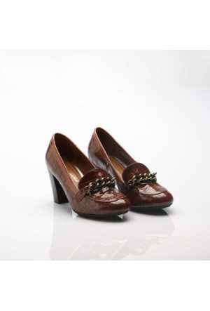 Modabuymus Kroka Taba Rugan Bayan Ayakkabı