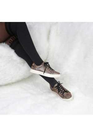Modabuymus Bronz Renk Bayan Spor Ayakkabı
