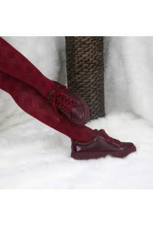 Modabuymus Bordo Renk Bayan Spor Ayakkabı Modeli