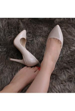 Modabuymus Ten Rengi Rugan Stiletto Bayan Ayakkabı