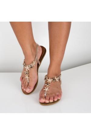 Modabuymus Guzin Dore Taşlı Parmak Arası Sandalet