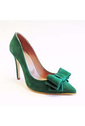 Modabuymus Yeşil Kurdeleli Bayan Stiletto