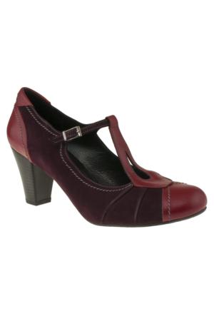 Gess -14857 Bilek Tokali Topuklu Kırmızı Kadın Ayakkabı