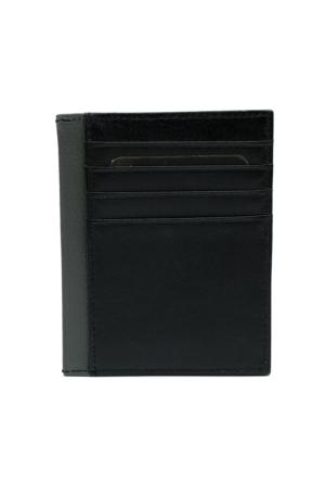 Bond 193-1 Siyah Gerçek Deri Kartlık