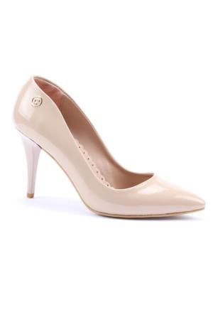 Cudo Stiletto Rugan Topuklu Ayakkabı