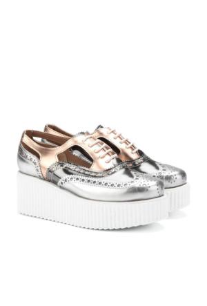 İlvi Tomeo 15058 Ayakkabı Gümüş Platin