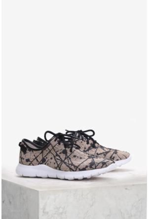 İlvi Paper 5374 Spor Ayakkabı Siyah Bej