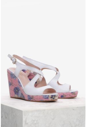 İlvi Donata 8130 Sandalet Beyaz Deri