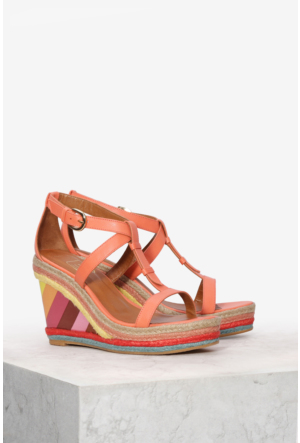 İlvi Liberta 9687 Sandalet Turuncu Multi