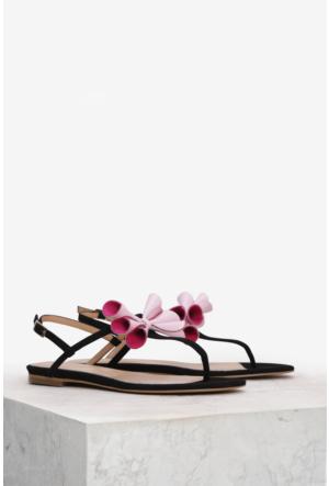 İlvi Bound 3754 Sandalet Siyah Süet