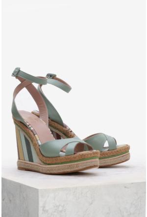 İlvi Esperienza 15627 Sandalet Yeşil Multi
