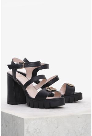 İlvi Bounes 7103 Sandalet Siyah