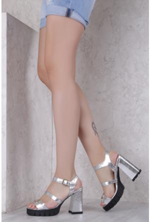 İlvi Bounes 7103 Sandalet Gümüş