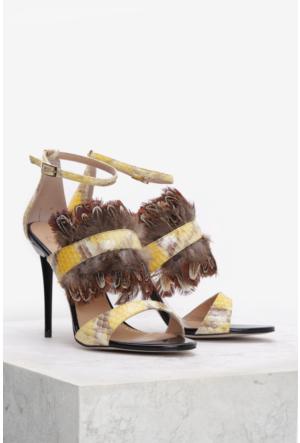 İlvi Melinda 3741 Sandalet Sarı Yılan Multi