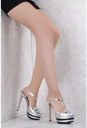 İlvi Fetty 3740 Sandalet Gümüş Multi