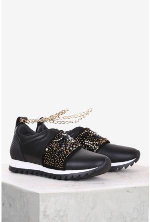 İlvi Nensi 9004 Spor Ayakkabı Siyah Deri