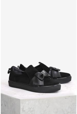 İlvi Klara 9201 Spor Ayakkabı Siyah Süet