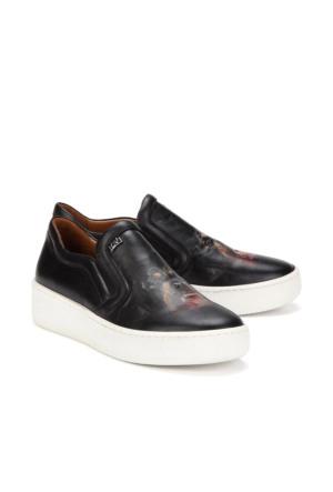 İlvi 17007 Carlo Spor Ayakkabı Siyah Deri