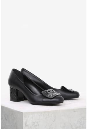 İlvi Frayda 12000 Günlük Ayakkabı Siyah Deri-Siyah Rugan