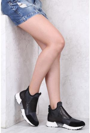 İlvi Maia T520 Spor Ayakkabı Siyah Simli