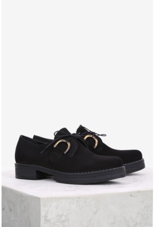 İlvi Vizar V-54 Günlük Ayakkabı Siyah Nubuk