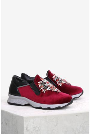 İlvi Eloisa Gm-130 Spor Ayakkabı Kırmızı Süet