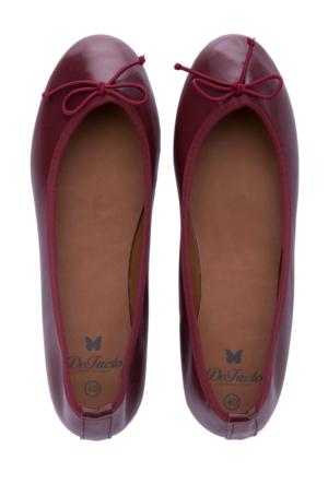 DeFacto Kadın Bordo Fiyonk Detaylı Ayakkabı