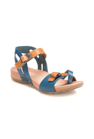 Seventeen Taby Lacivert Kız Çocuk Deri Sandalet