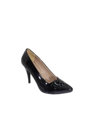 Despina Vandi Vnr 722-1 Günlük Kadın Topuklu Stiletto Rugan Ayakkabı