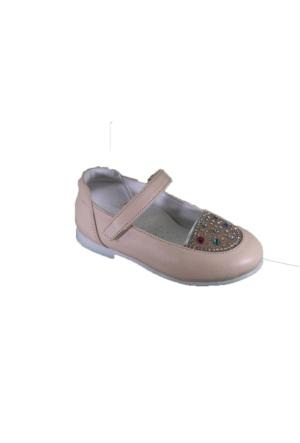 Mini Can B121 Günlük Bebe Taşlı Babet Ayakkabı