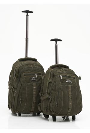 Moda Çanta Çek Çekli Sırt Çantası İkili Set