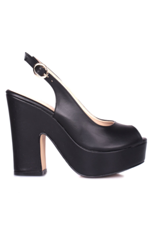 Loggalin Kadın Siyah Platform Ayakkabı 520906 031 014
