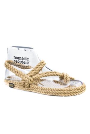 Nomadic Republic Halat Sandalet Günlük Kadın Sandalet Bej