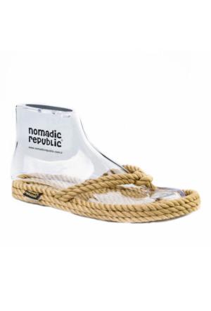 Nomadic Republic Halat Sandalet Günlük Kadın Terlik Bej