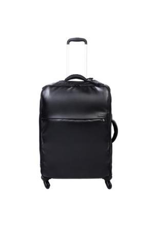 Lipault Plume Premium-Dört Tekerlekli Büyük Boy Valiz Siyah
