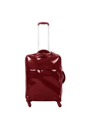 Lipault Plume Vinyle 65 cm Orta Boy Valiz Kırmızı