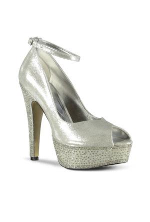 Marjin Kartiga Platform Topuklu Ayakkabı Gümüş