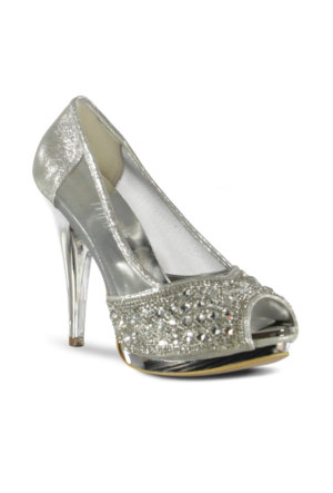 Marjin Enlace Topuklu Ayakkabı Gümüş