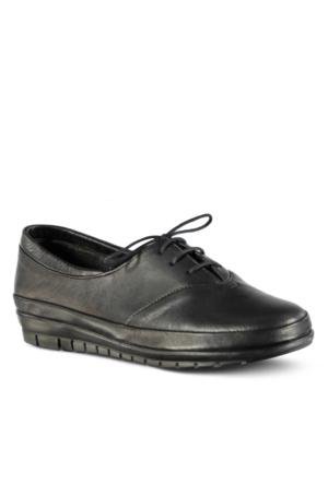 Marjin Dalke Düz Deri Ayakkabı Siyah
