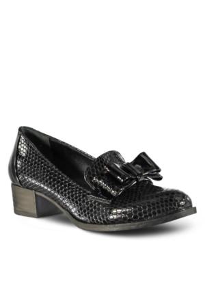 Marjin Ervum Deri Topuklu Ayakkabı Siyah