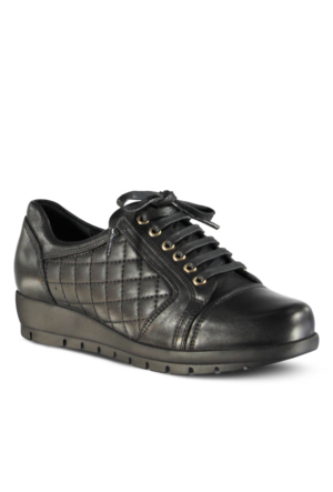 Marjin Orsino Deri Dolgu Topuklu Ayakkabı Siyah
