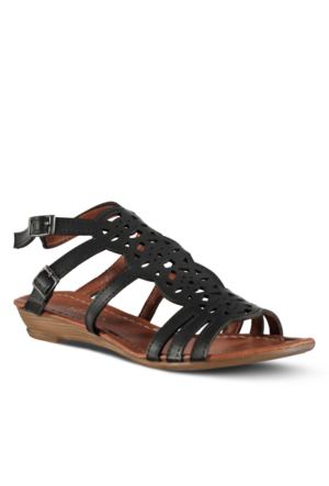 Marjin Miruna Düz Sandalet Siyah