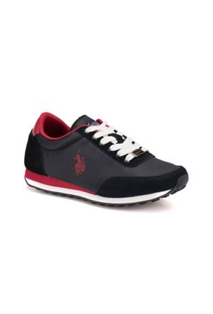 U.S. Polo Assn. A3352011 Lacivert Kırmızı Kadın Sneaker