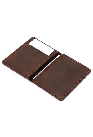 TripleWallet Handmade Deri Erkek Kredi Kartlık ve Cüzdan trp1402