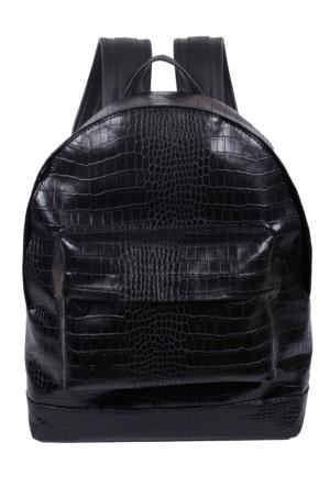 Mode49 Croc Siyah Deri Sırt Çantası